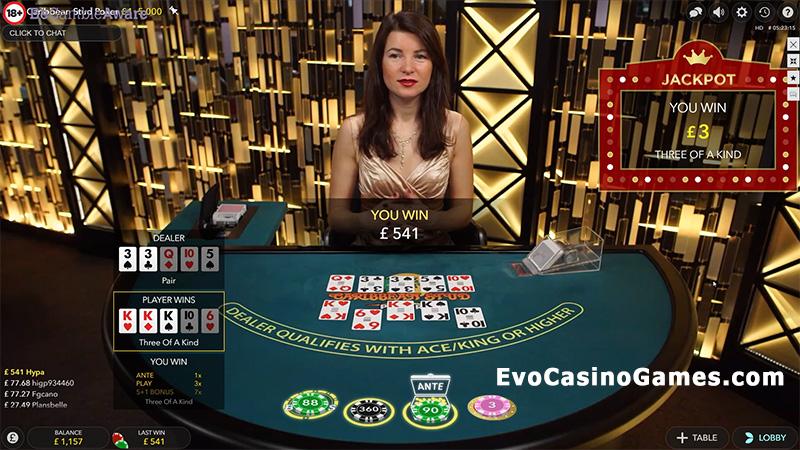 Play Live Dealer Caribbean Stud Poker